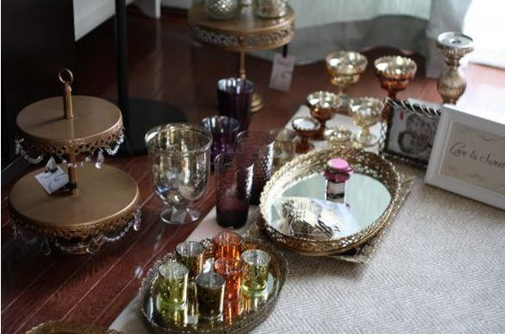 little items that help you get an idea of the look of the wedding