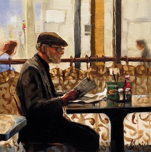 "Daily Paintworks - ""The Days News"" - Original Fine Art for Sale - © Karin Jurick"