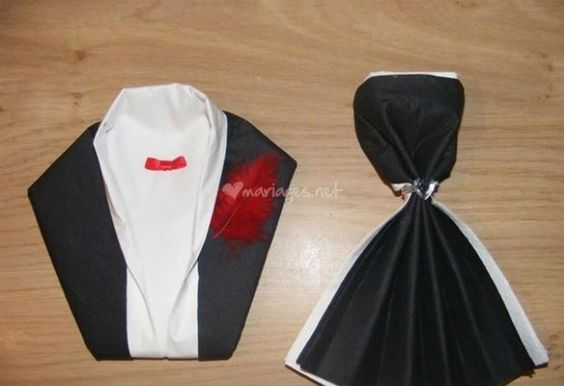 pliages de serviettes de violette v nements photo 6 mariage pinterest mariage photos. Black Bedroom Furniture Sets. Home Design Ideas