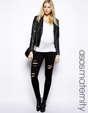 Ripped up maternity jeans – Global fashion jeans collection