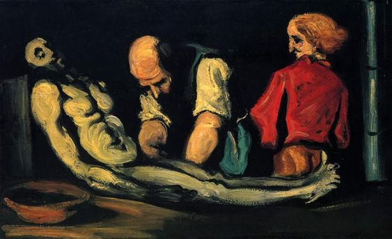 Preparation for the Funeral - Paul Cezanne