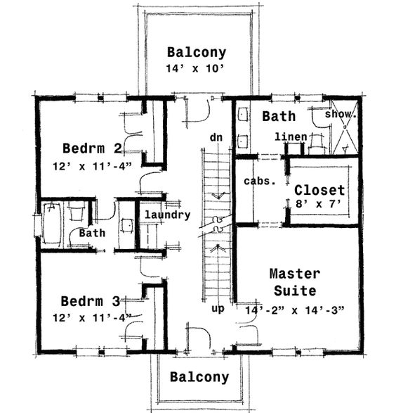 Colonial House Plans: Plan 44045TD: Center Hall Colonial House Plan
