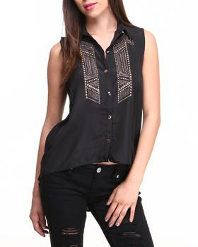 Love this Stud Trim Hi-Lo Shirt by ALI & KRIS on DrJays. Take a look and get 20% off your next order!