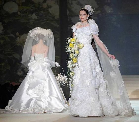 White Gold Wedding Dress by Yumi Katsura