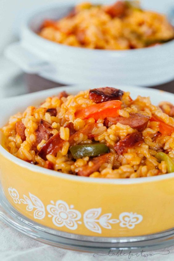 Smoked Sausage and Peppers with Rice