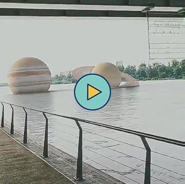 planetas no rio