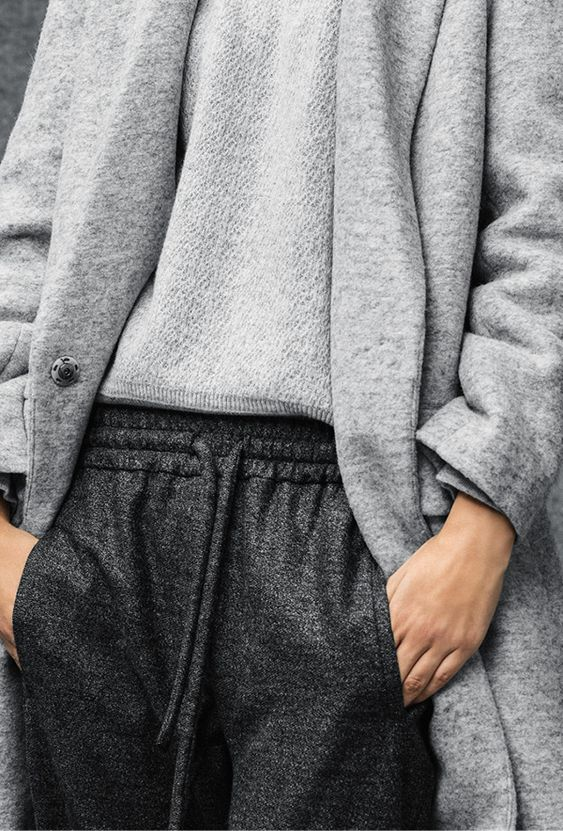 grey on grey #style #fashion: