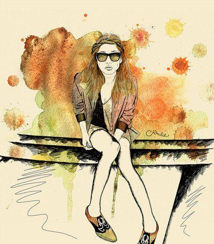иллюстрация, рисунок, девушка