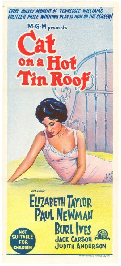 Gata em teto de zinco quente - 1958