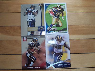 STEVEN JACKSON Lot (4) 2012 Topps Finest Prolific Performers Panini Elite Mint
