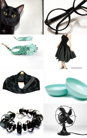 black and aqua--Pinned with TreasuryPin.com