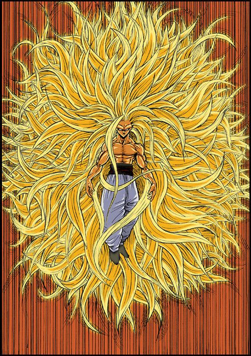 Gokú transformado en Super Saiyan (Sayayin) nivel 50 en ...