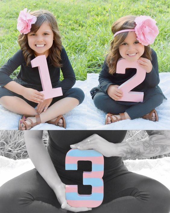 Pregnancy reveal announcement 3rd baby