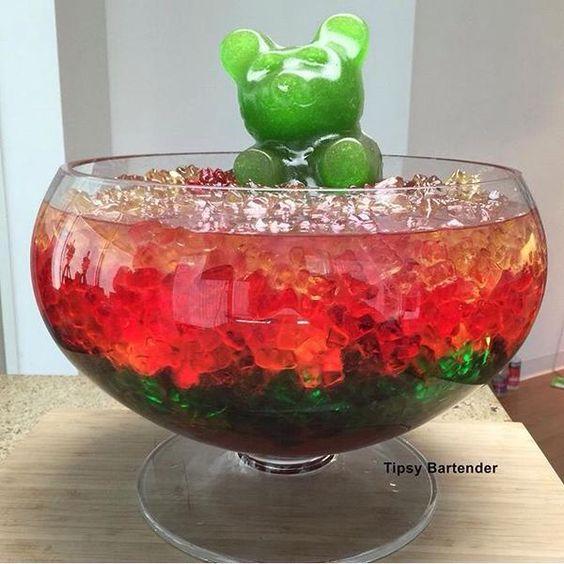The Ultimate Vodka Gummy Bear Jungle Juice.