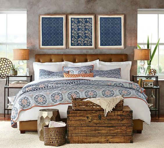 Quilt Ideas For Master Bedroom : Pia Medallion Quilt, King/Cal. King, Blue Multi Lorraine, Master bedrooms and Quilt