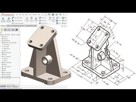 Solidworks Tutorial For Beginners Exercise 19 Youtube 3d