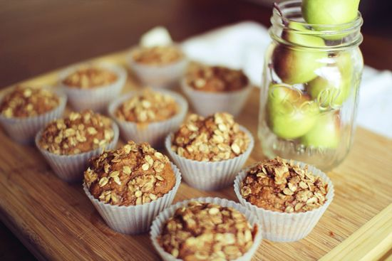 75 Calorie Apple Crumble Muffins