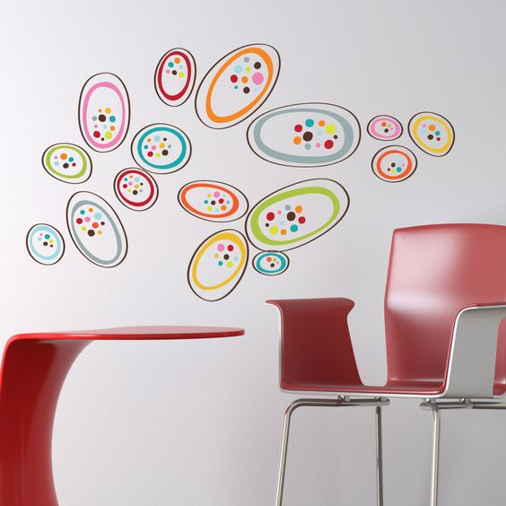 Removable vinyl wall decals. Osaka