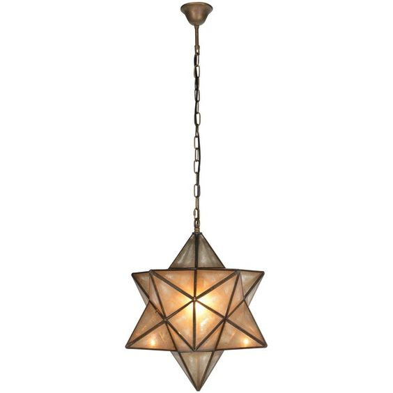 Antiqued Brass Star Pendant Lamp (23.535 RUB) ❤ liked on Polyvore featuring home, lighting, star lights, contemporary pendant light, contemporary lighting, star lamp and handmade lamps