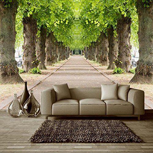 Forest Road 3d Wallpaper Landscape Wallpaper Room Wallpaper Wall Wallpaper