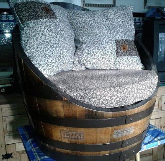 sencilla opcin para transformar una barrica o barril en dos estupendos asientos para vuestro hogar