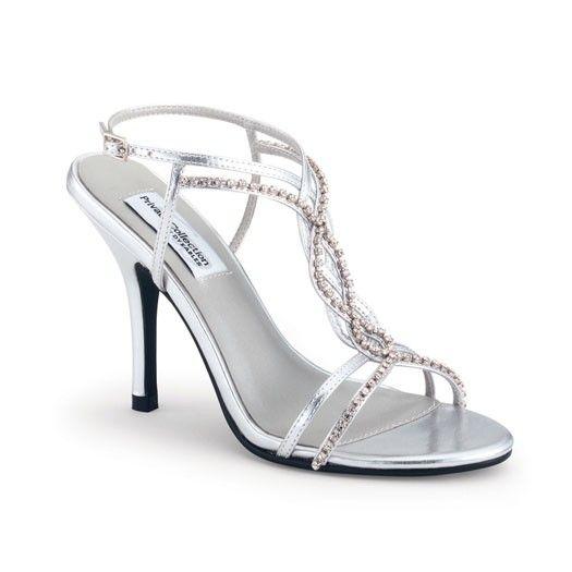 Silver Crystal Strappy Striking Heels | Hoco | Pinterest ...