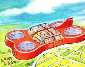 Das Auto am Himmel: Fahrgestell zum Einziehen