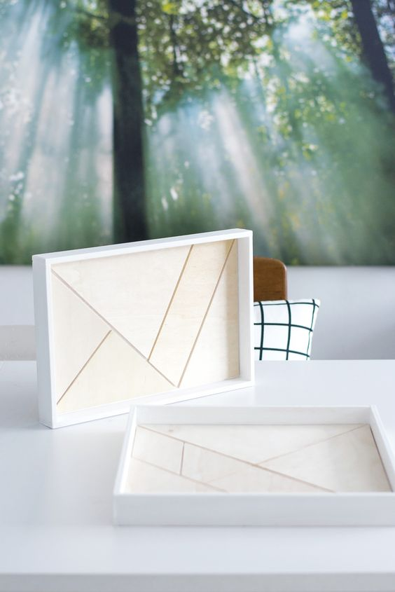 [Nachmachtipp] Holz-Tablett mit Tangram Muster | s i n n e n r a u s c h