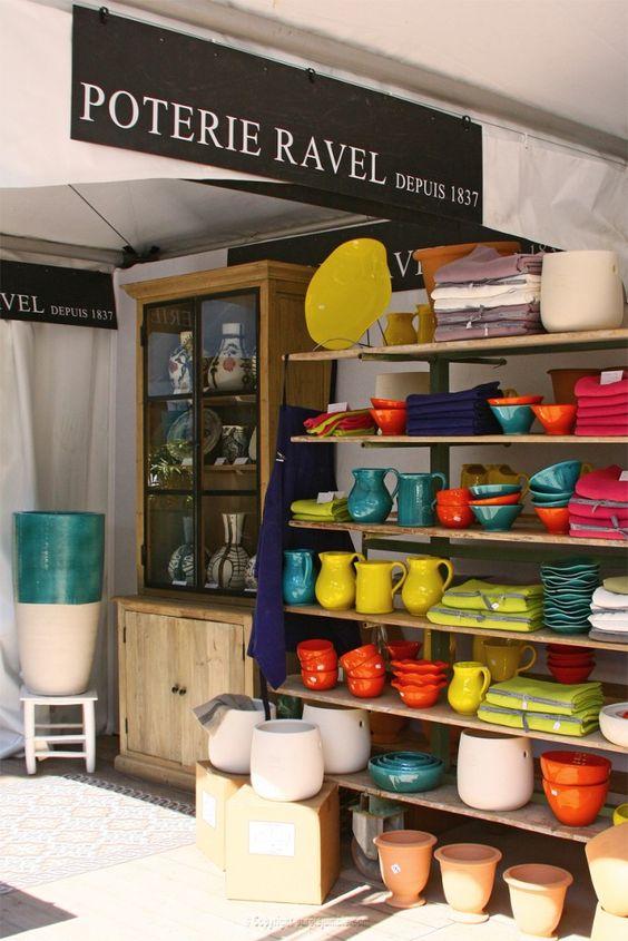 Salon Vivre Côté Sud à Aix stand Poterie Ravel - Purple Jumble