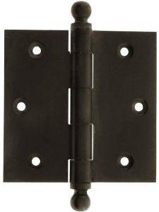 3 1 2 Quot Solid Brass Door Hinge With Ball Finials In Oil