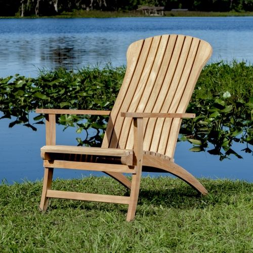 Teak Adirondack Chair Rustic Outdoor Furniture Lounge Chair