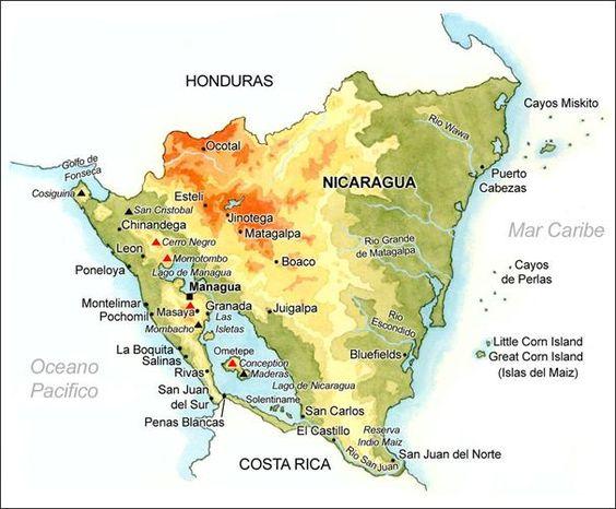 Mapa de Nicaragua que fabuloso!