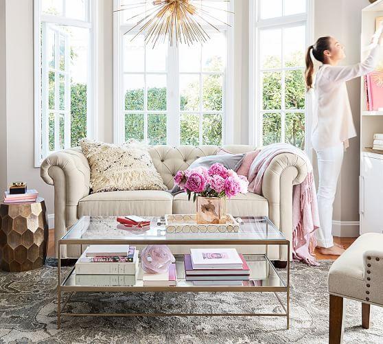 Leona Coffee Table Potterybarn Apartment Living Room Design Living Room Interior Living Room Decor