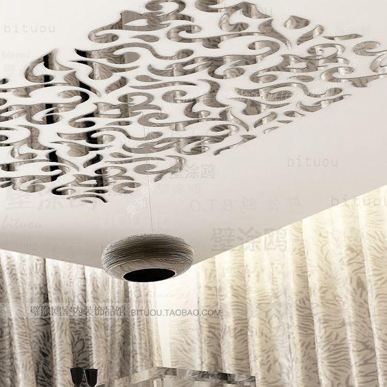 Moda europa papel espelho do teto adesivos espelho adesivos de parede 3d adesivos em Papéis de parede de Casa & jardim no AliExpress.com | Alibaba Group