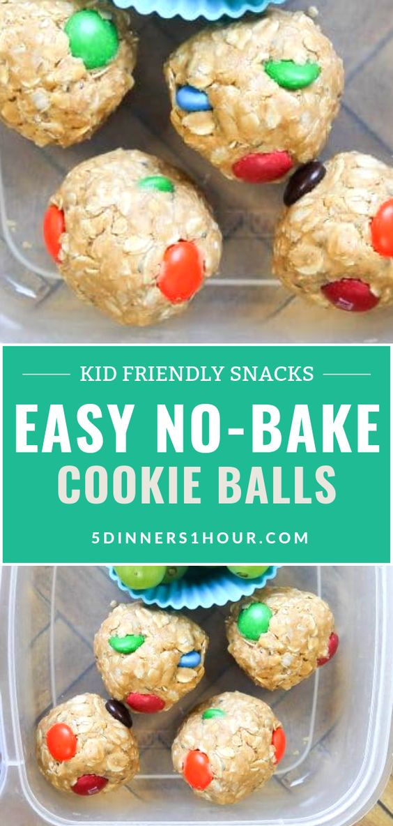 Easy No Bake Cookie Balls Snacks Recipe (Kid Friendly) | Easy Healthy Recipes & Meals for Families