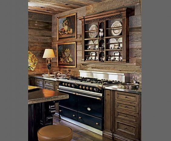 Kitchen in my dream log cabin! La Cornue