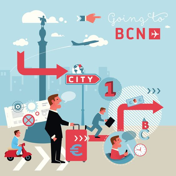 "Illustration, ""Going to Barcelona"""