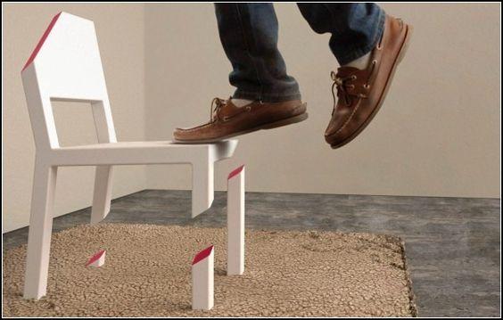 Арт-стул Cut Chair дизайнера Питера Бристола (Peter Bristol)