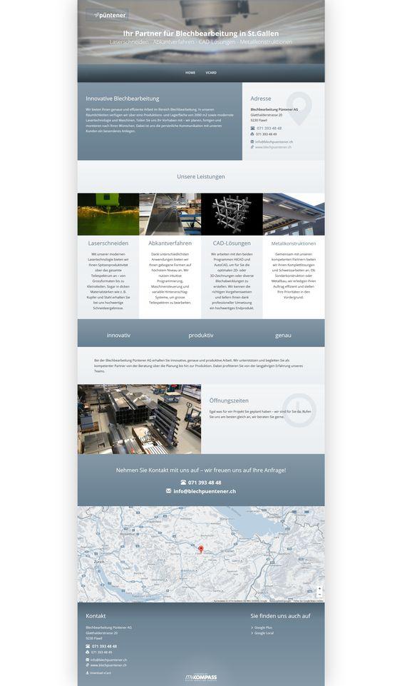 Blechbearbeitung Püntener AG, Flawil, Laserschneiden Metall, Abkantverfahren, Metallbauplanung, Metallkonstruktionen