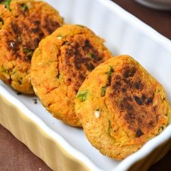 Chickpeas Patties - Very Healthy Starter made with ground chickpeas n spices, delicious indeed..
