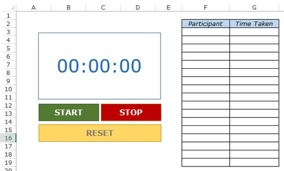 Creating a Stopwatch in Excel (Basic + Toastmasters Style - datapower resume
