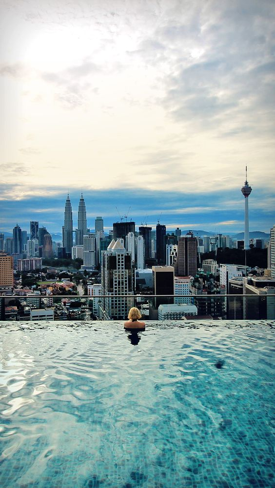 Kuala lumpur malaysia and over the on pinterest - Rooftop swimming pool kuala lumpur ...