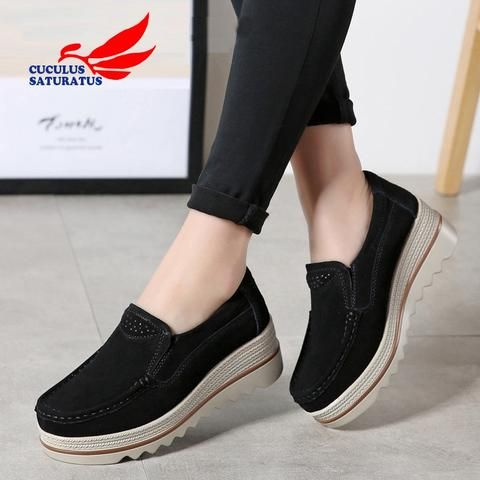 Womens Denim Jeans Flats Loafers Sneakers Slip On Sports Athletic Creepers Shoes