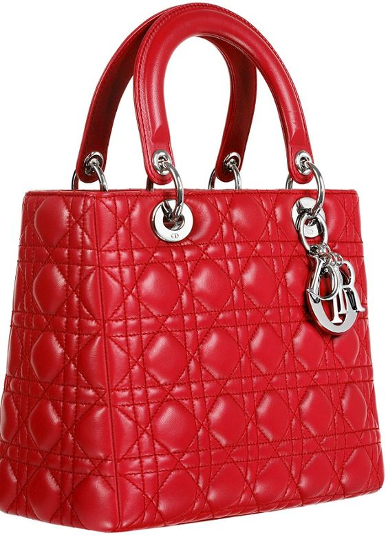 bright red lady dior bag - Google Search