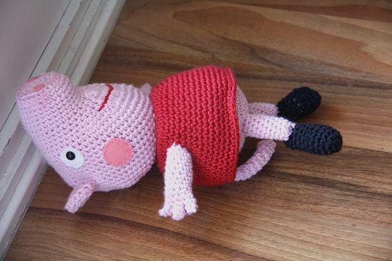 Peppa Pig Amigurumi Llavero : peppa pig - amigurumi Amigurumi etc Pinterest Pigs ...