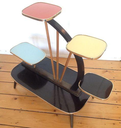 superbe selette formica design meuble table porte plante. Black Bedroom Furniture Sets. Home Design Ideas