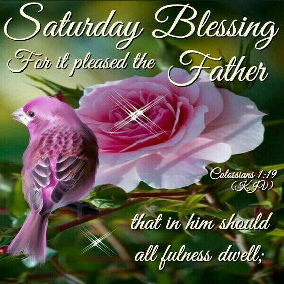 Saturday Blessings~~J