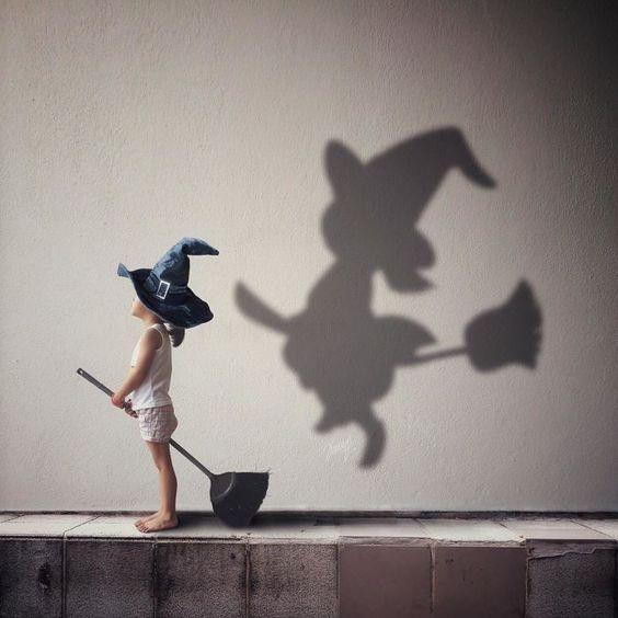 Fotógrafa representa la imaginación de su hija con sombras en estas fotos #Fotografía #Inspiración #Creatividad