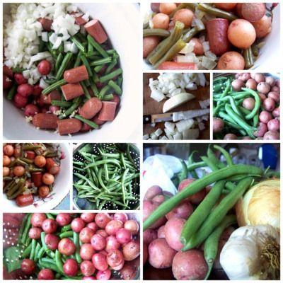 Sausage, Green Beans, and Potatoes; Crock pot 5-6 hours