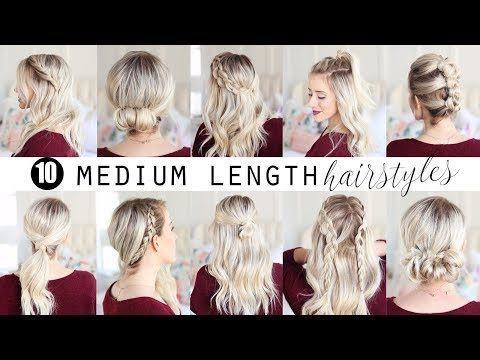 1 Min Everyday Hairstyles For Work With Puff Easy Braids Updo For Long Medium Hair Youtube Coiffure Et Beaute Coiffure Cheveux